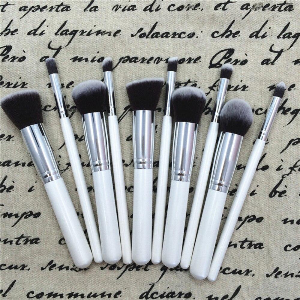 Newest 2015,10 PCS Pro Beauty Makeup Brushes Tools eyeshadow foundation Make Up Brush Set Kit,3 colors
