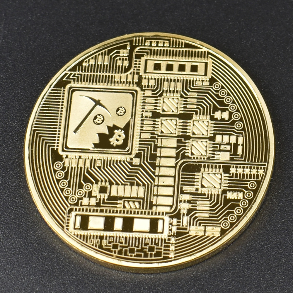 1pcs Hot sale Cheap Gold BItcoin Coin with Plastic shell Bit Coin BTC Cryptocurrency Physical metal coin for Colllection-3