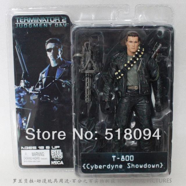 Varejo NECA O Exterminador Do Futuro 2 T-800 Cyberdyne Showdown PVC Action Figure Toys 18 cm Arnold