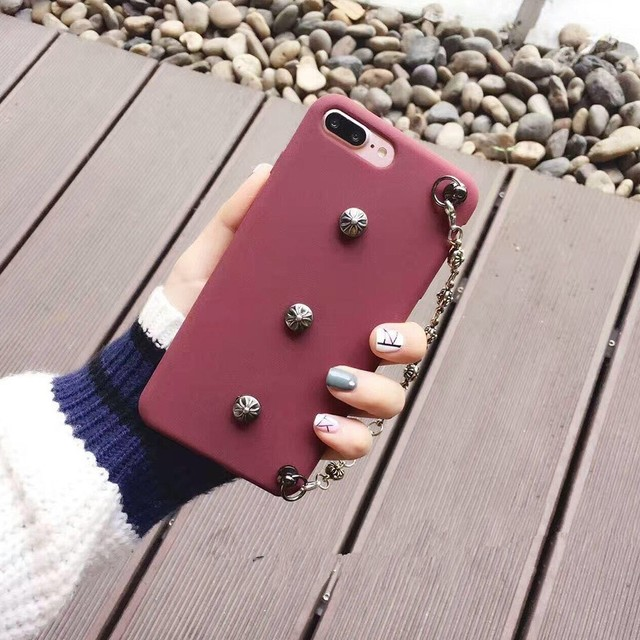 Retro Mobile Phone Cases Small Beautiful Decorations With Chain