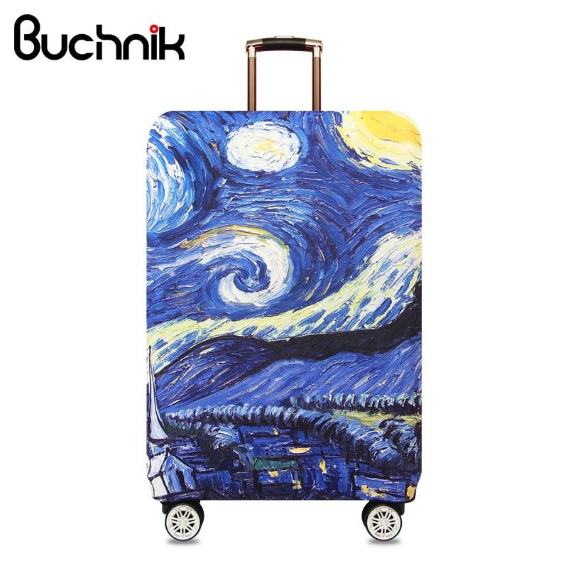 Starry Sky Travel Gepäck Abdeckung Van Gogh Elastische Trolley Koffer Wasserdicht Studenten Kid Schützen Staub Fall Zubehör Liefert