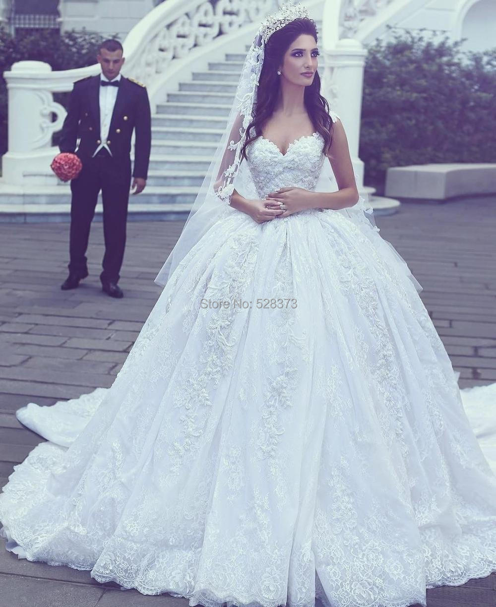Ynqnfs Iwd4 Vintage Arabic Muslim Court Train Lace Bridal Dress Gown Princess Wedding Party 2019in Bridesmaid Dresses From Weddings Events On: Princess Wedding Dress Princess At Reisefeber.org