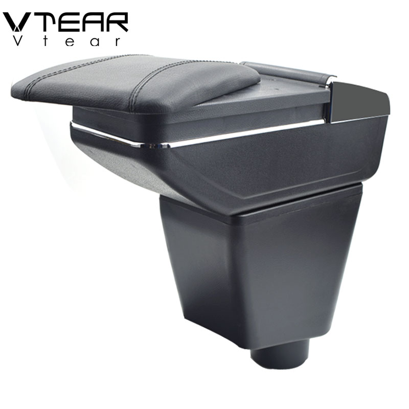 Vtear For renault clio 2 armrest box central Store content box cup holder ashtray interior car