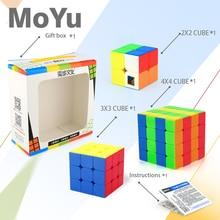 3Pcs set Cubing Classroom MF9302 2x2 3x3 4x4 Magic Cube Gift Box Series Stickerless