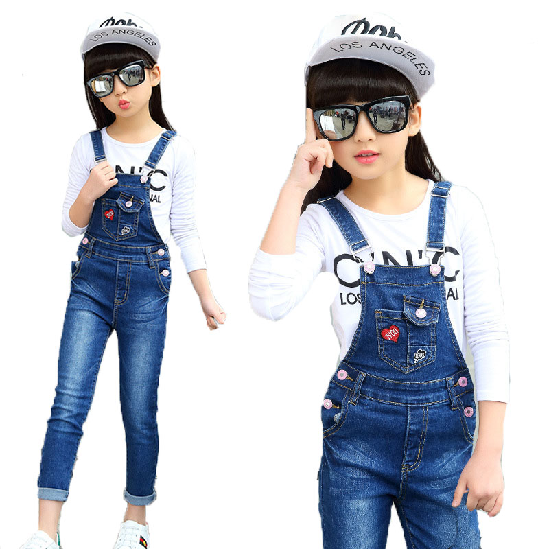 5 8 11 13 New Children Clothing Jeans Overalls Spring For Girl Denim Pocket Jumpsuit Pants Fashion Kids Jeans Baby Girls Overall Buy At The Price Of 13 30 In Aliexpress Com Imall Com