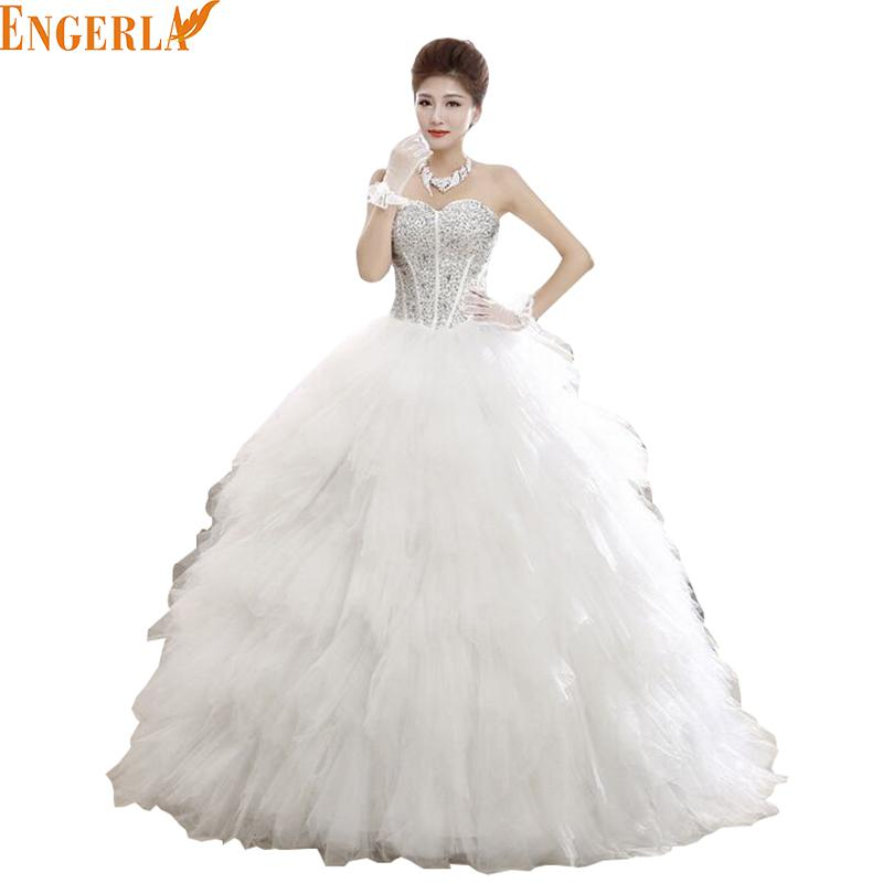 free shipping 2016 fashion wedding dress sexy high quality feather princess wedding gown lace up luxury