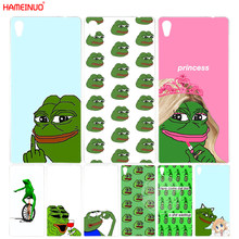 HAMEINUO Internet Meme Smug Frog Pepe Cover phone Case for sony xperia C6 XA1 XA ULTRA X XP L1 X compact XR/XZ/XZS PREMIUM(China)