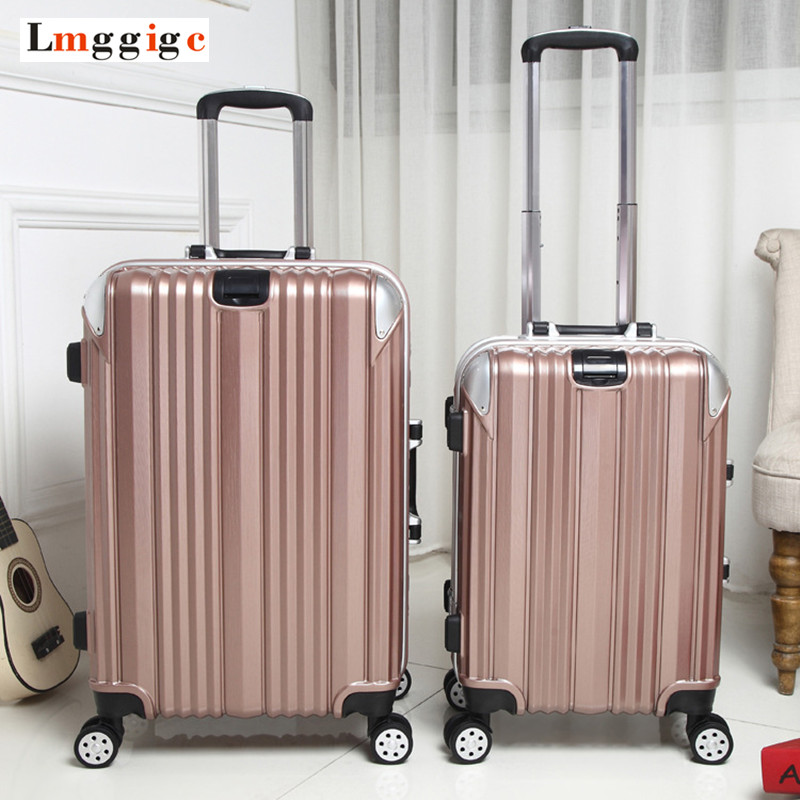 Men Aluminum frame Rolling Luggage,Travel Suitcase Bag,Women Trolley Case, wheel Carry-On, 2024inch Nniversal wheel Box