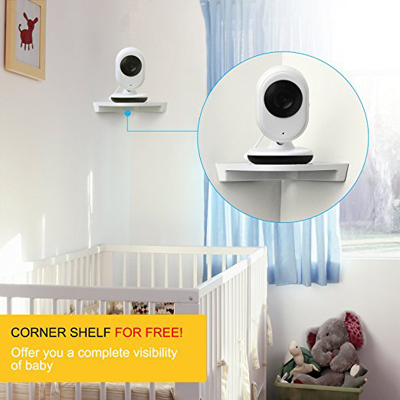 Wireless Video Baby Monitor 2.4 inch Color Security Camera 2 Way Talk NightVision IR LED Temperature Monitoring with 8 Lullaby