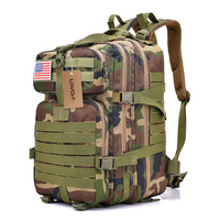 Lixada 30L/40L Outdoor Camouflage Bag Water Resistant Bags Military Molle Tactical Bag Rucksack Backpacks Vintage Camping Bag