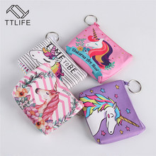 TTLIFE Women Cartoon Coin Purses Holder Kawaii Animal Mini Change Wallet Small Wallet Bag Kids Zipper Pouch Gift For Travel стоимость