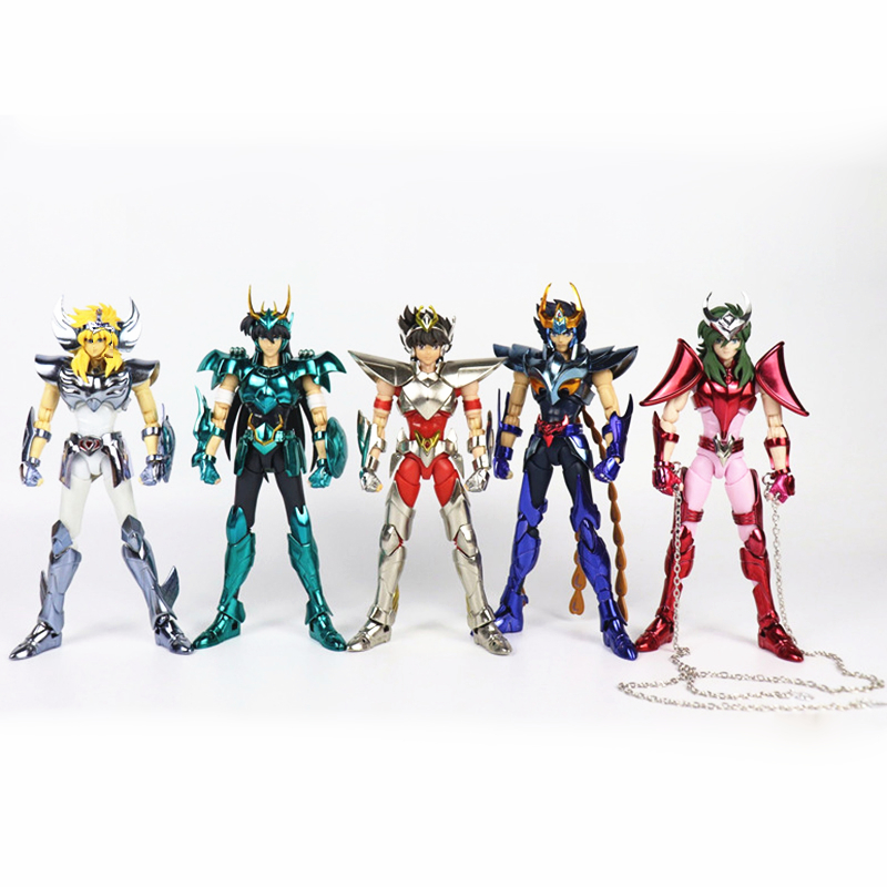 цена на Anime Pegasus Andromeda Shun Cygnus Hyoga ikki Phoniex V3 Final Cloth Metal Bronze Saint Seiya Myth Cloth Action Figure Toys