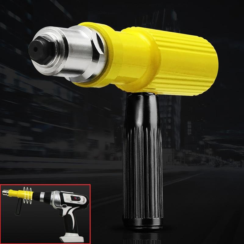 Electric Rivet Gun Machine Pull Pin Conversion Head Accessories Core Pulling Cordless Riveting Drill Adapter Insert Nut Tools