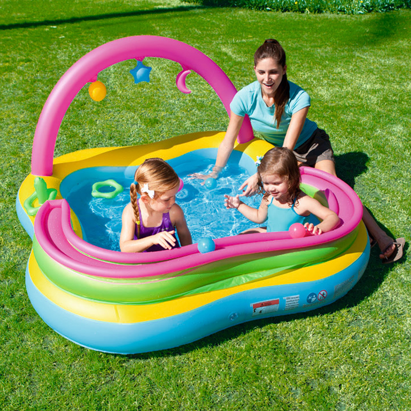 Multi-Function Cute Ball Inflatable Water Pool Bobo Family Playground  Children Baby Sand Ball Pool Outdoor piscine A100 inflatable water spoon outdoor game water ball summer water spray beach ball lawn playing ball children s toy ball