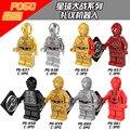 8 UNIDS MG8023 Marvel Super Heroes Star Wars figuras Building Blocks Juguetes Compatible con Lepin