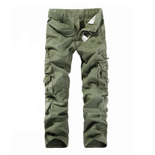 Mens Tactical Pants Joggers Casual Male Cargo Cotton Trousers Multi Pocket Military Training overalls
