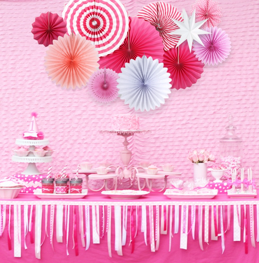 Pink Theme Party Decorations Princess Party Supplier For