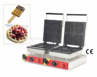 2 Heads Waffle Machine Various Styles for Your Choice Electric Nonstick Waffle Maker 220V 110V Food Street Snack Device