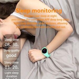 Image 4 - Q1 Bluetooth Signora Astuto Della Vigilanza di Modo Delle Donne Del Cuore Rate Monitor Fitness Tracker Smartwatch Supporto APP Per Android IOS pk Q8 q9