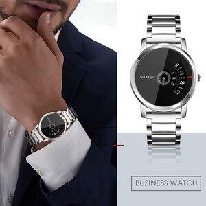Image 3 - SKMEI Mens Quartz Watch Waterproof Full Steel Fashion Watches Top Luxury Brand Wristwatches Male Clock Relogio Masculino 1260