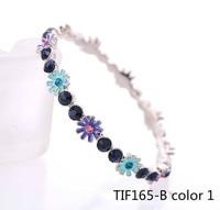 VickyTimes Stonery New European Fashion Ornaments Oil Drop Floret Woman Accessories Charm Bracelets TIF165