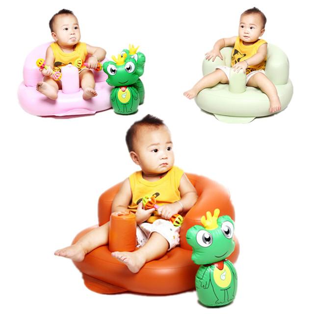 Segurança Crianças Sofá Inflável Cadeira de Bebé Portátil, 1 peça de cor aleatoriamente enviar