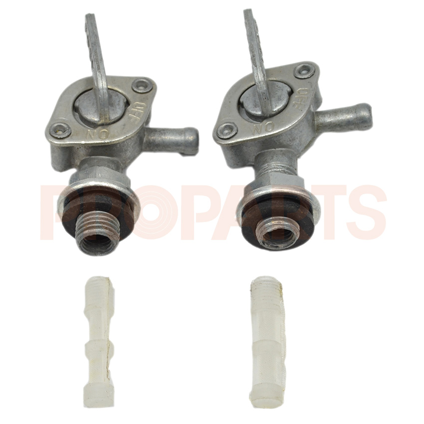 2PCS Gas Tank Valve Fuel Petcock Lock Parts For Honda Gx120 Gx140 Gx160 Engine Motor outdoor gas recharging valve for flat gas tank transparent silver 60cm