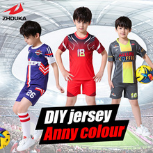 Full sublimation printing custom Children's Soccer jerseys in high quality