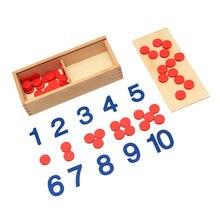 Crianças matemática de madeira cedo educacional montessori brinquedo de matemática chips jogo digital montessori brinquedos educativos aprendizagem