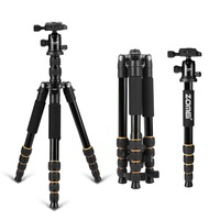 ZOMEI Q666 Portable Professional Monopod Tripod Lightweight Travel Ball Head Travel for Canon DSLR Camera