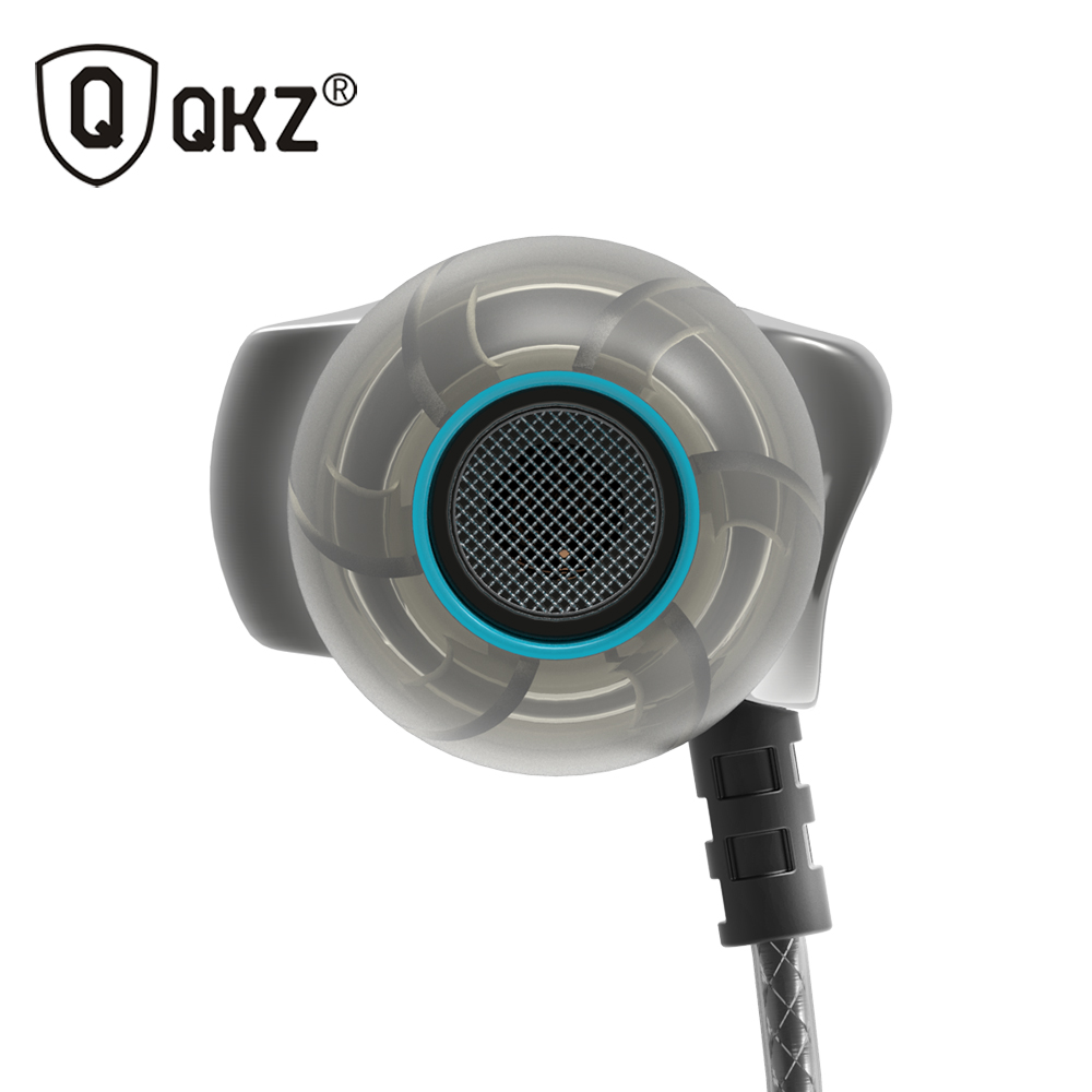 QKZ DM7 Earphone Logam Stereo Kebisingan Mengisolasi In-Ear Earphone Musik Headset Headphone fone de ouvido DJ audifonos DJ MP3