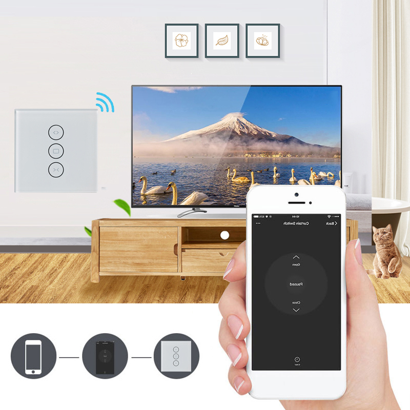 HTB1MyTHVCzqK1RjSZPxq6A4tVXaD - for Electric Motorized Curtain Blind Roller Shutter WiFi Smart Curtain Switch Smart Life Tuya Works with Alexa and Google Home