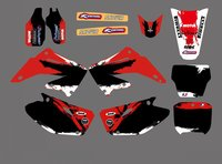 Power 0056 New Style TEAM GRAPHICS BACKGROUNDS DECALS STICKERS Kits For CR125 CR250 2002 2003 2004
