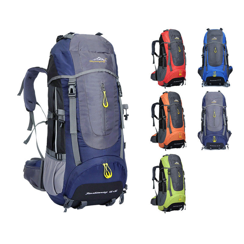 HOT New 65+5L Men Backpacks Waterproof Large Capacity Rucksack For Climber Women Casual Travel Sports Hiking Backpacks цена 2017
