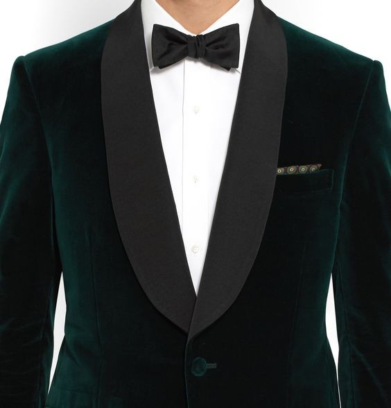 Green Velvet Tuxedo Jacket Designs Custom Made Men Suit jacket Elegant Smoking Dinner Jacket Slim Fit Wedding Suits For Men 2