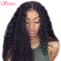 Satai Deep Wave Brazilian Hair Weave Bundles 1 Piece 100 Human Hair Non Remy Hair Extension