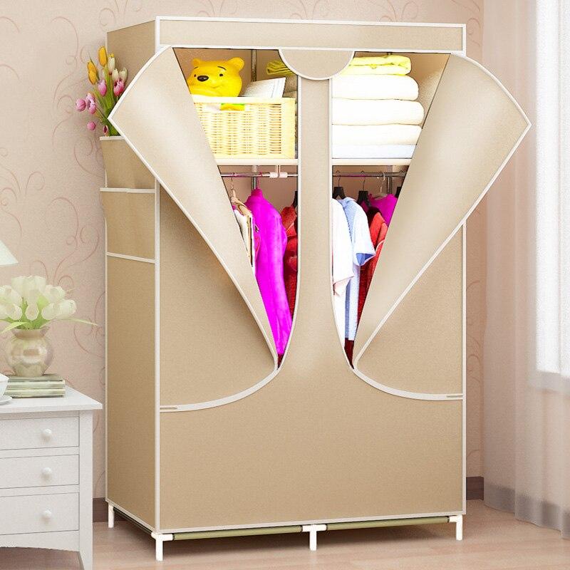 Armoire rack Non-tissé tissu vêtements organisateur armoire mode vêtements étagère de rangement maison chambre meubles - 4