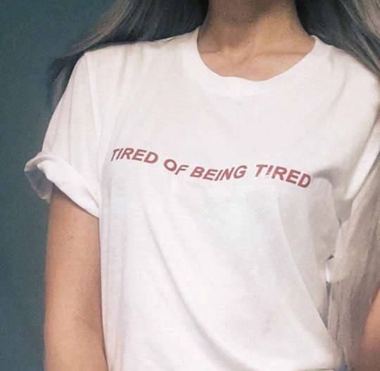 1d0971a6519c Tired Of Being Tired japanese T-shirt Tumblr Inspired Softgrunge Daddy Pale  Grunge top tees