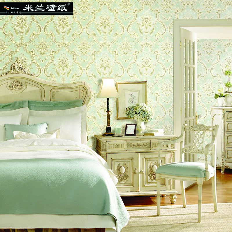 MILAN 2018 New Fashion Wallpapers for Living Room Non-woven Fabric Gold Crochet Pastoral 3d Wallpaper High Quality home decor home decor non woven fabric 3d wallpapers modern wallpaper good lightfastness durable bedroom decor white grey pink 53x1000cm