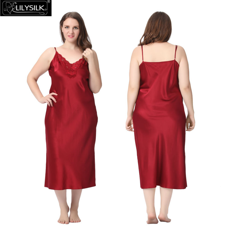1000-claret-22-momme-lacey-neckline-silk-nightgown-plus-size-01