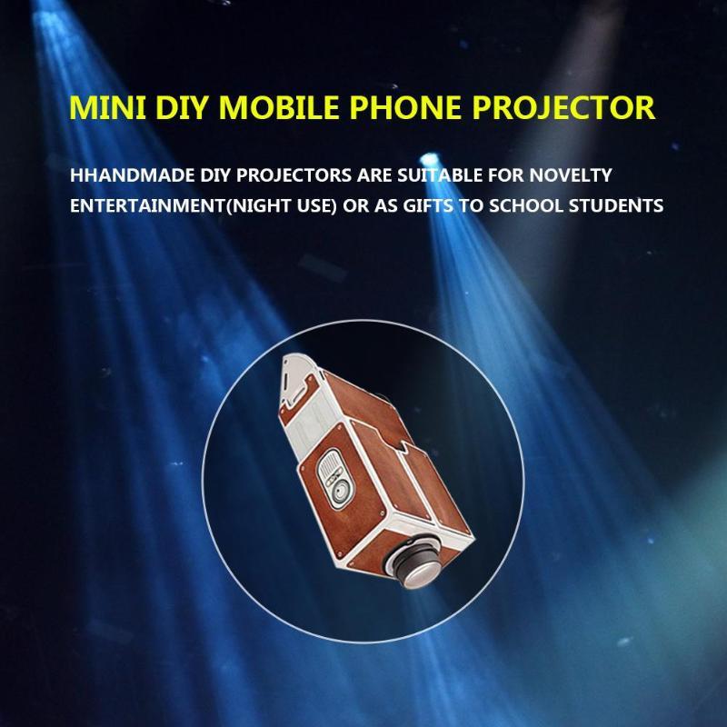 YouN DIY karton Smartphone projektor tv Bildschirm verstärker Mini Theater   S#E