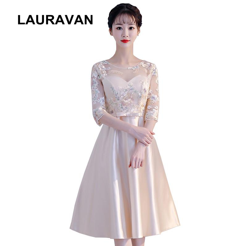 robe de soiree cute cheap short girls champagne lace tea party dress formal corset homecoming dresses high school ball gown