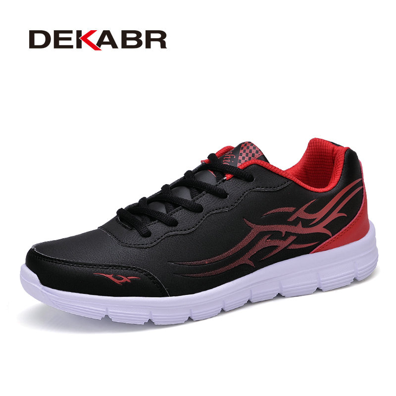 DEKABR Brand 2018 Spring New Arrivals Men Casual Shoes PU Leather Comfortable Male Shoes High Quality Shoes Men Plus Size 38-45 dekabr brand big size cow suede leather men flats 2017 new men casual shoes high quality men loafers moccasin driving shoes