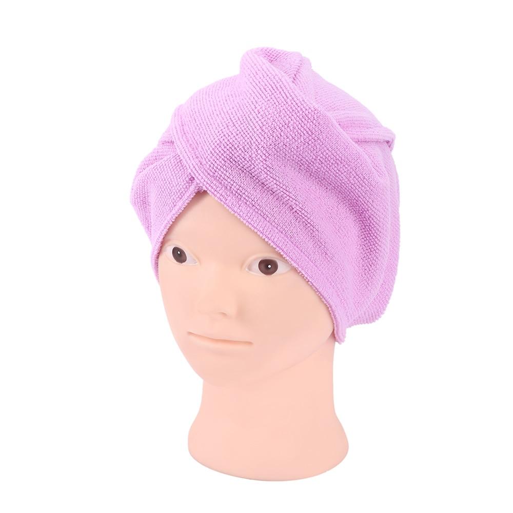Bamboo Fiber Magic Drying Turban Wrap Towel//hat Hair Dry Quick Dryer Bath Towels