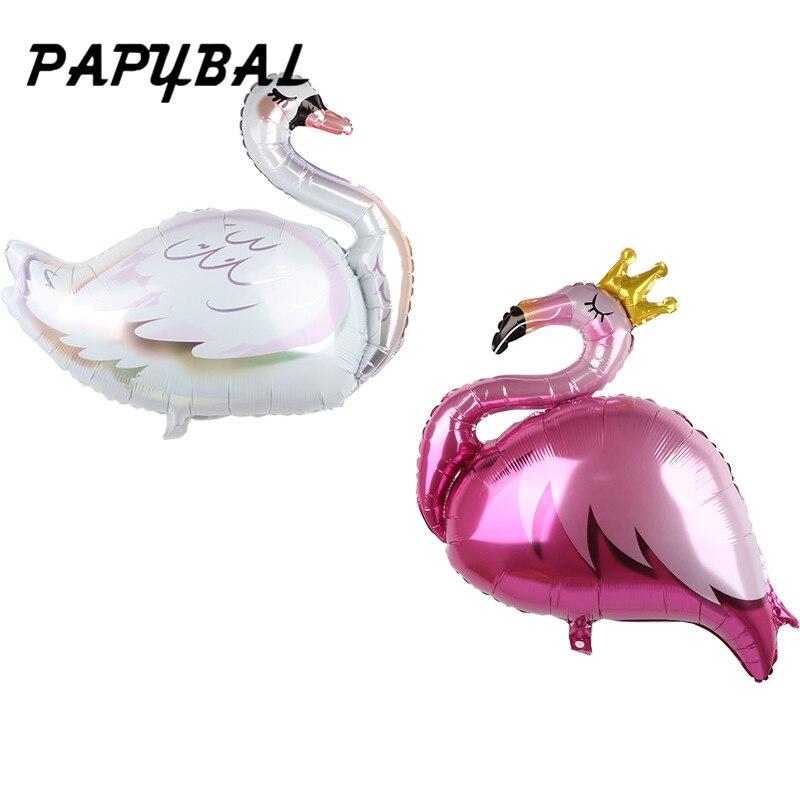 1pc coroa rosa flamingo coroa folha balão ins cactus estilo feliz aniversário festa baloon decoração de casamento cisne dia de são patrício