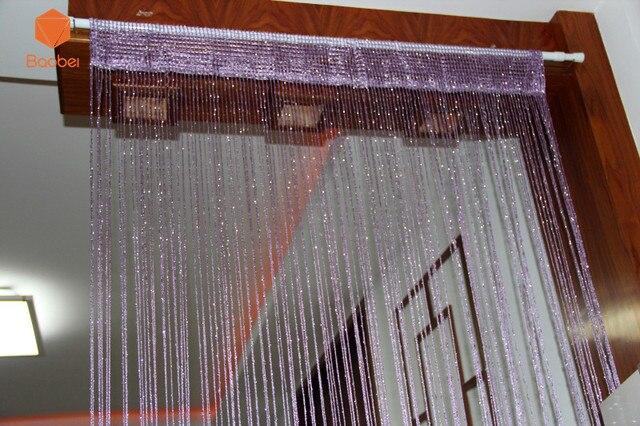 Gordijn Als Scheidingswand : Decoratieve zilveren string gordijn 200*100 cm 78*39 inch deur