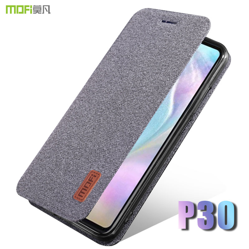 for huawei p30 pro case cover MOFI P30 lite fabric Flip Case for huawei P30 full Cover flip Case P30Pro Soft Silicone back Case