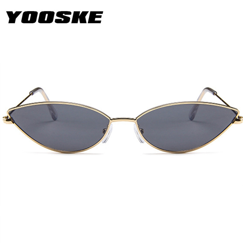 0f46ab9c24 YOOSKE Cute Sexy Cat Eye Sunglasses Women 2018 Retro Small Frame Black Red Cateye  Sun Glasses Female ...