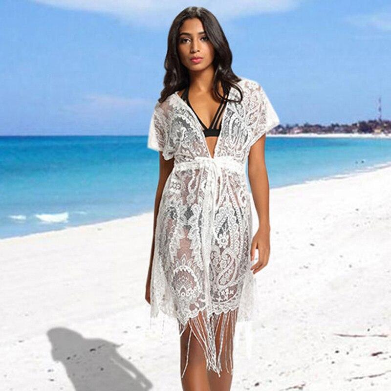 Летнее пляжное платье Cover Up носить халат Для женщин плюс Размеры 2018 новый проход Смок свободные женские животного ацетат Sierra Surfer
