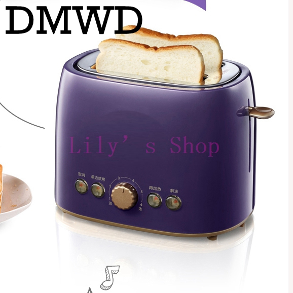 DMWD MINI Household Baking breakfast maker bread toast oven electric toaster Cooker Breakfast Machine 2 slices grill EU US plug цены